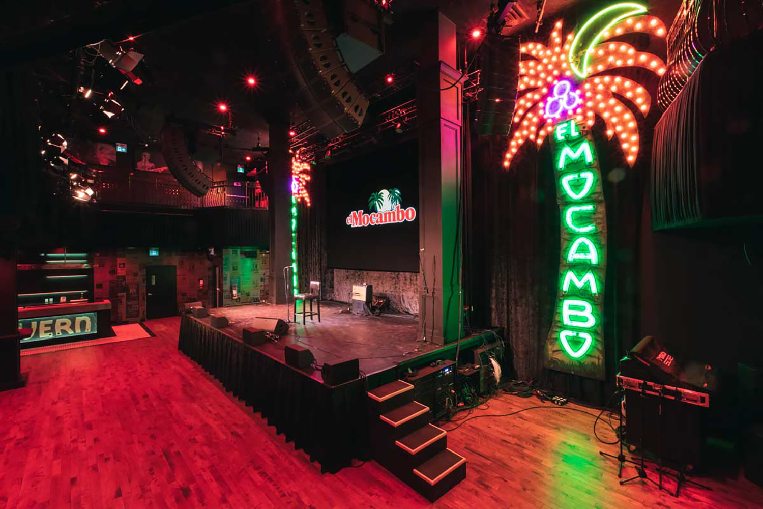 Toronto's legendary El Mocambo was acquired in 2014 by Michael Wekerle, who commissioned WSDG to design and co-supervise the renovation of the club into a live performance/recording and streaming space. Control Room. El Mo Room.