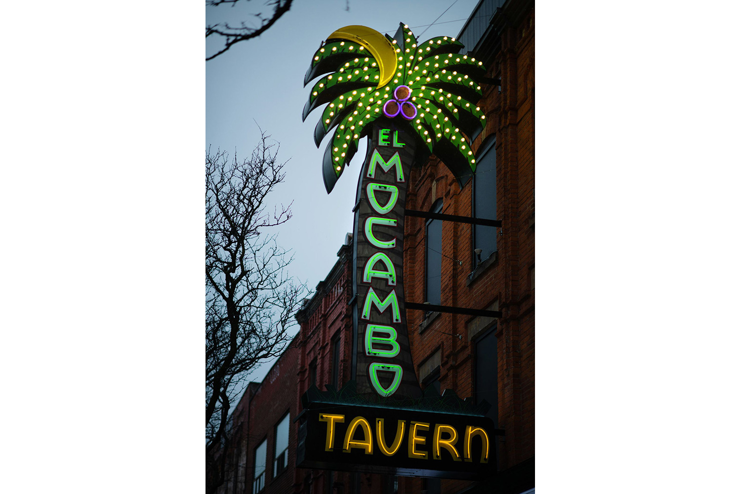 Toronto's legendary El Mocambo was acquired in 2014 by Michael Wekerle, who commissioned WSDG to design and co-supervise the renovation of the club into a live performance/recording and streaming space. Street sign.