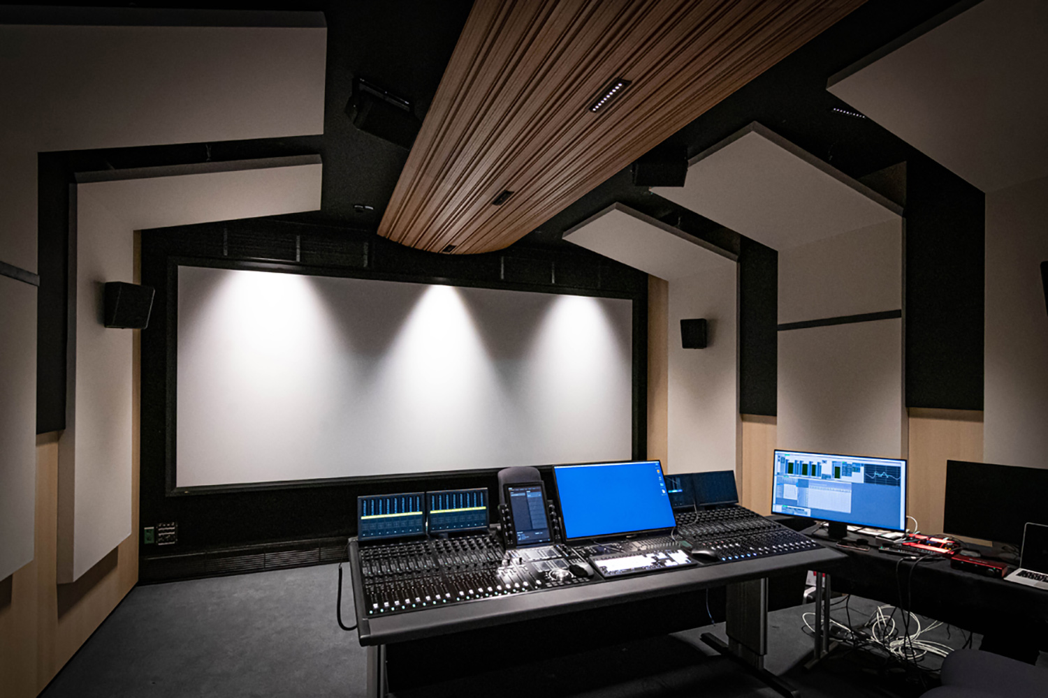 The University of Music and Performing Arts of Vienna new Future Art Lab designed by WSDG. Filmmix Multimedia Room.