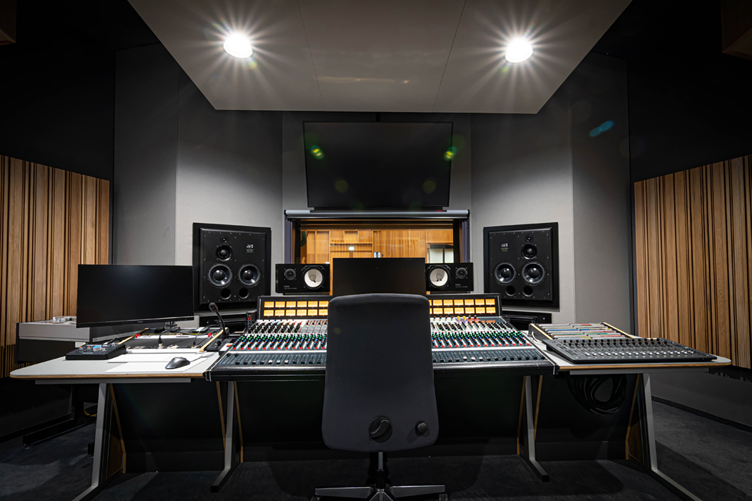 The University of Music and Performing Arts of Vienna new Future Art Lab designed by WSDG. Control Room C.