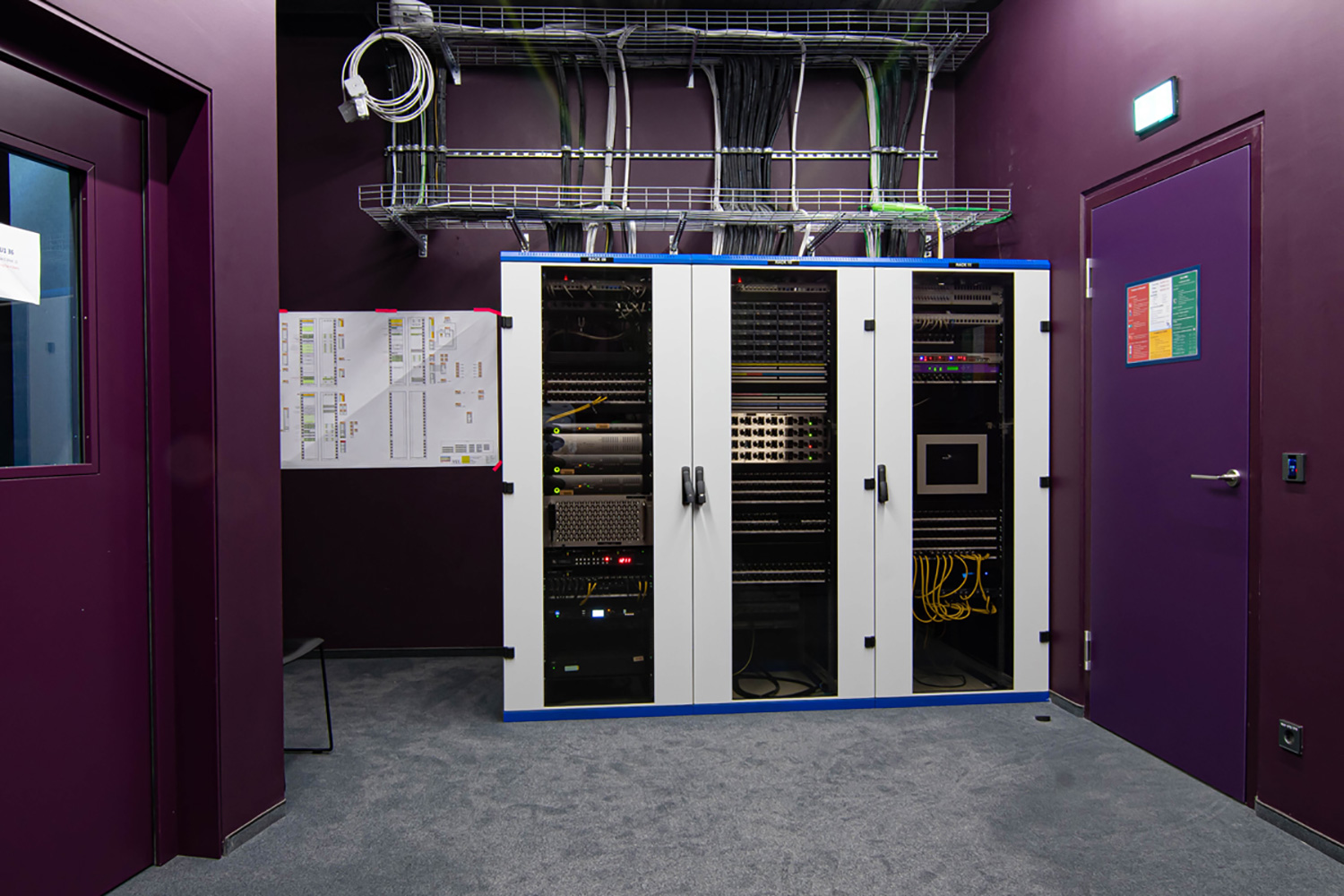 The University of Music and Performing Arts of Vienna new Future Art Lab designed by WSDG. System integration, control machine room.