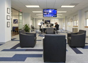 Falcon Square Capital in Raleigh, NC - Internal Room Acoustics and Isolation by WSDG - Main Common Space