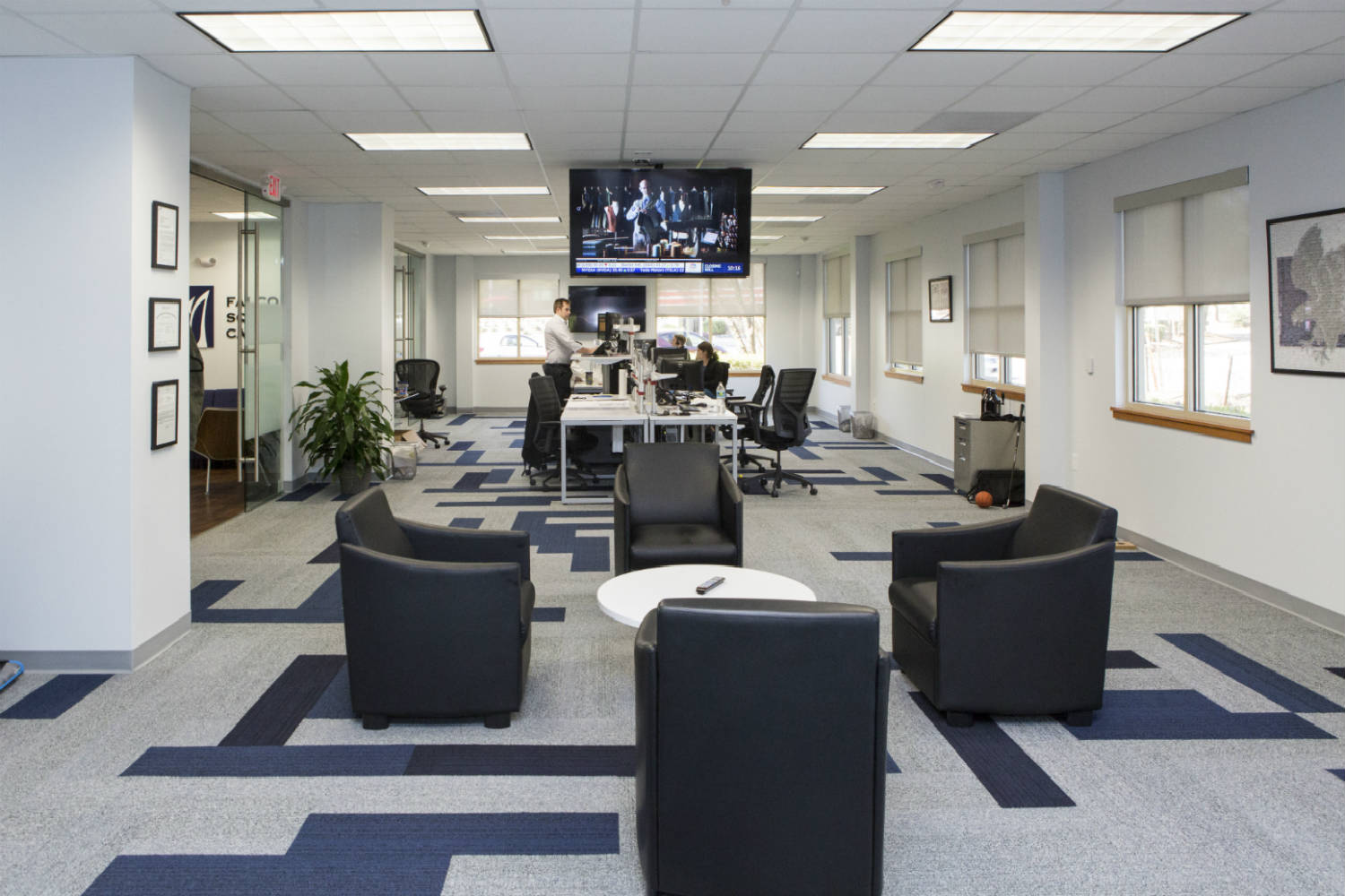 Falcon Square Capital in Raleigh, NC - Internal Room Acoustics and Isolation by WSDG - Main Common Space 3