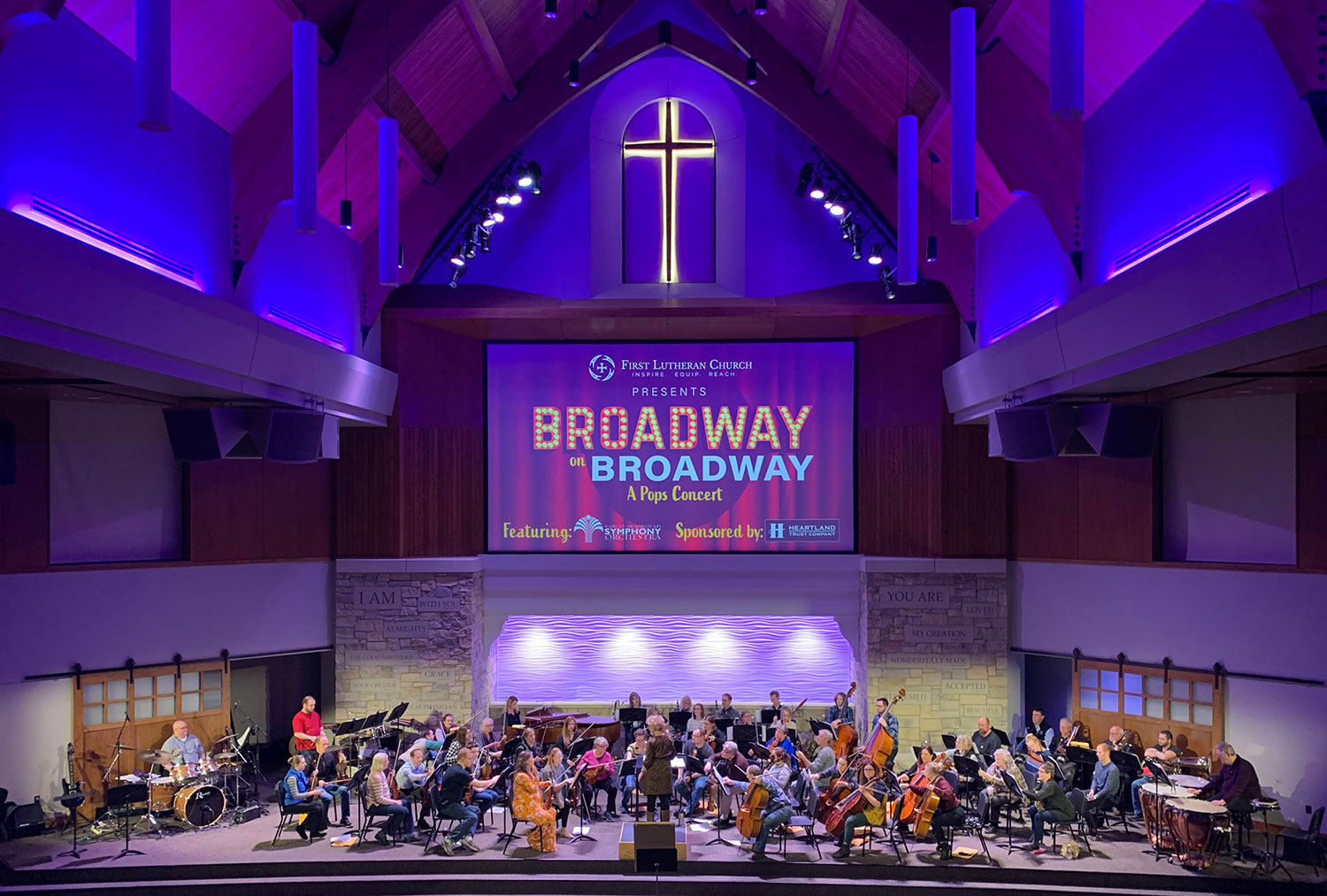 Live musicians at First Lutheran Church in Fargo, ND. Photo by