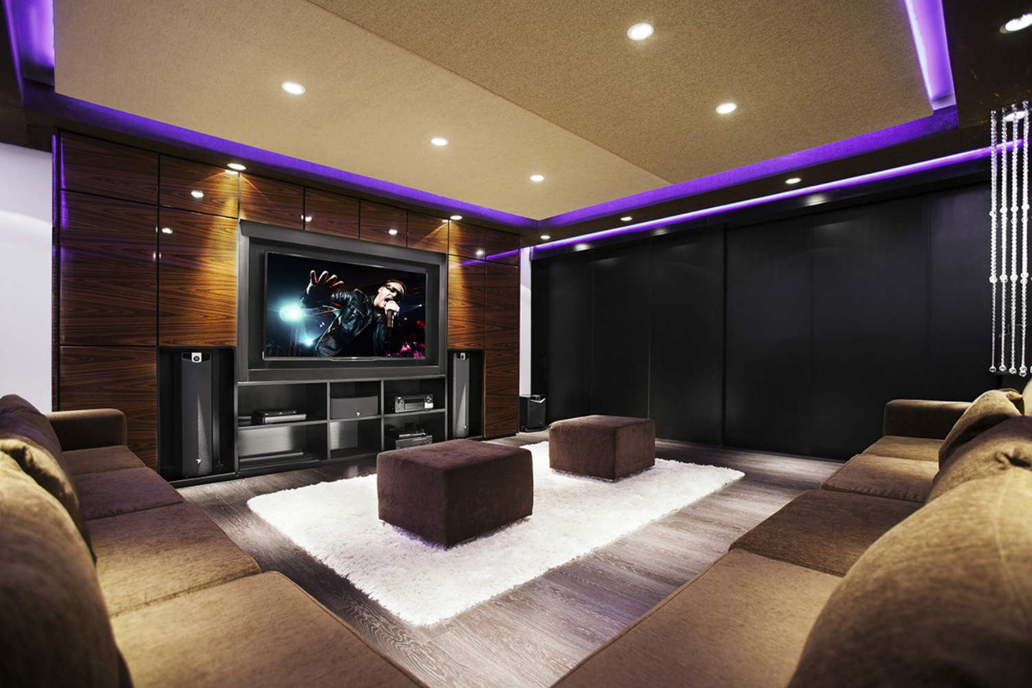 Casa Fontela in Buenos Aires, Argentina designed by WSDG. Home Theater