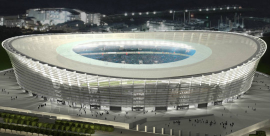 Green Point Stadium in Cape Town, South Africa. Noise emissions and consulting by ADA-AMC, a WSDG Company.