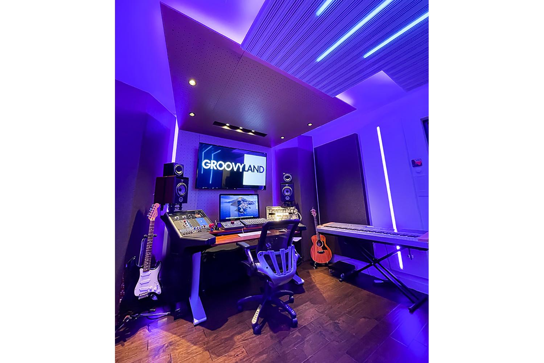 Groovyland Studios beautiful WSDG-designed Control Room front view.
