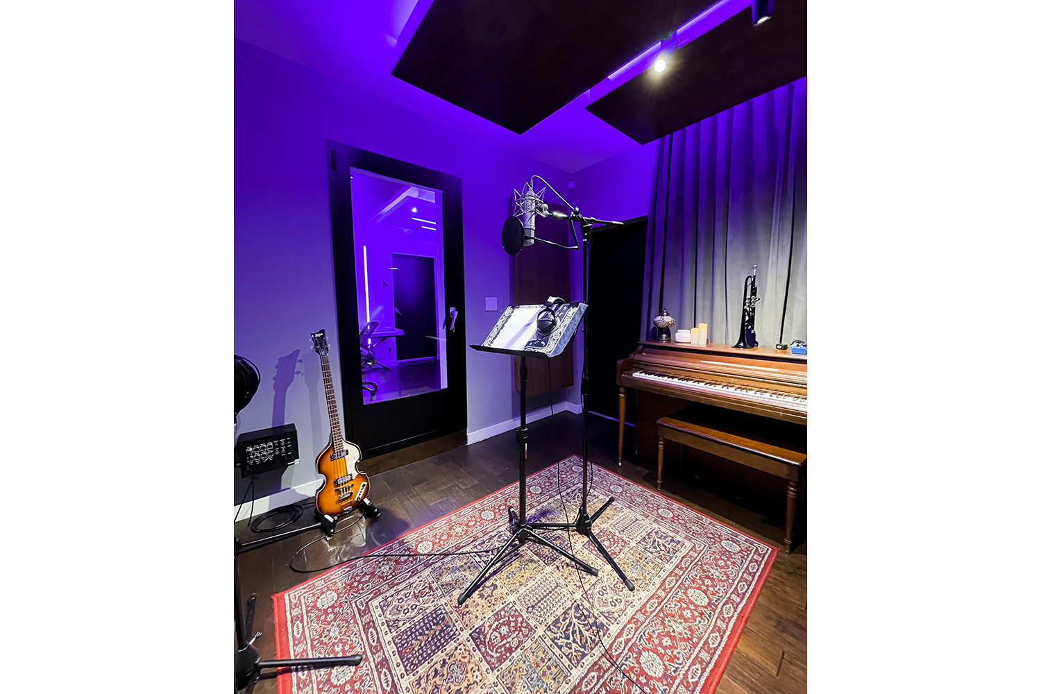 Groovyland Studios Live Room in Miami, FL. Designed by WSDG and owned by producer David Molho.