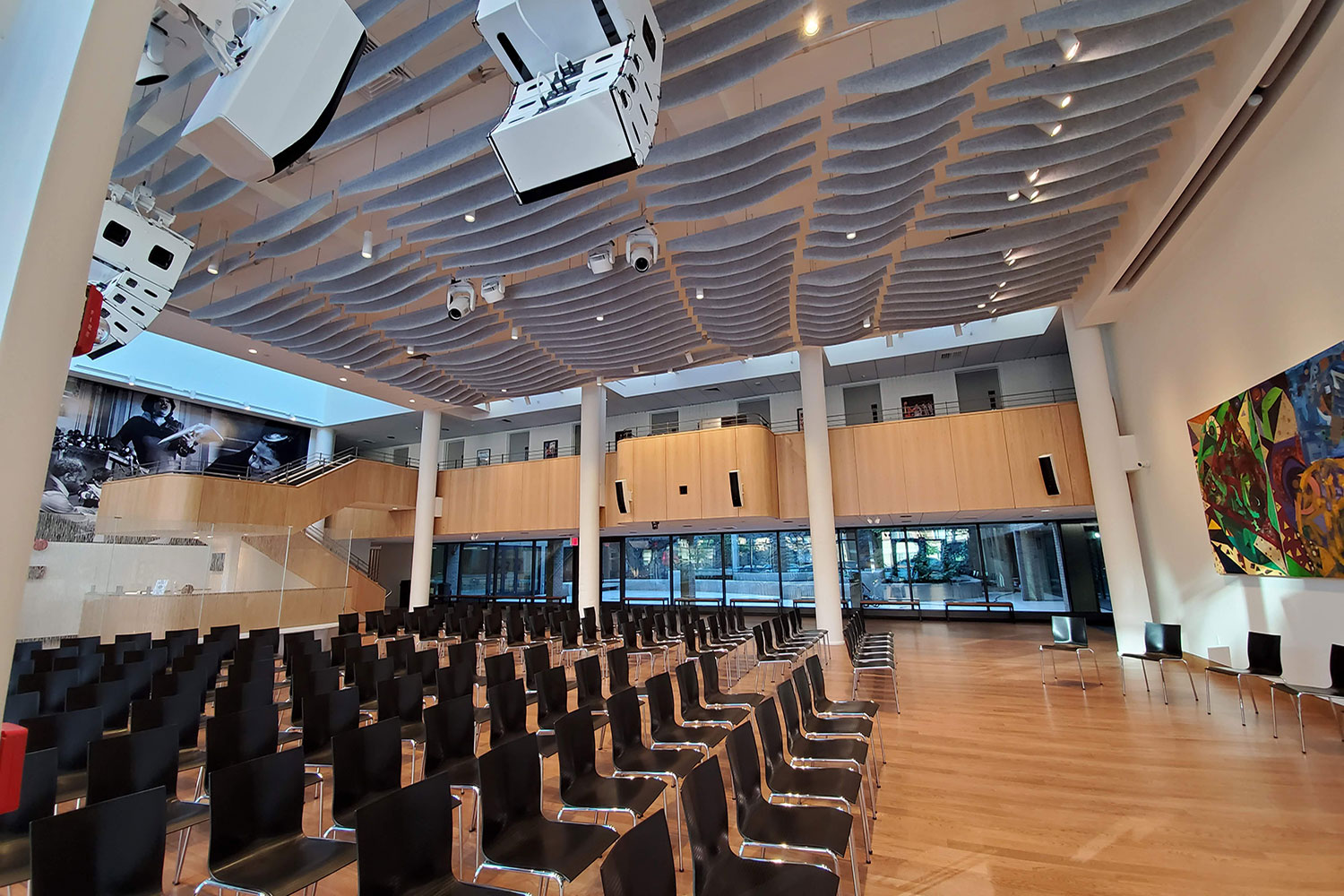 Harlem School of The Arts Herb Alpert Center upgraded performance venue designed by WSDG and featured at the New York Times. Dorothy Maynor Hall. Acoustics by WSDG.