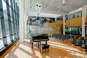 Harlem School of The Arts Herb Alpert Center upgraded performance venue designed by WSDG and featured at the New York Times. Performance Venue.