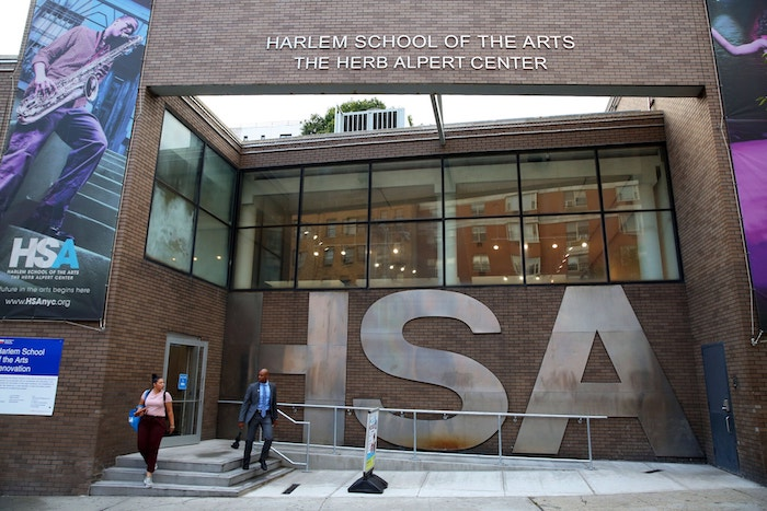 Harlem School of The Arts Herb Alpert Center upgraded performance venue designed by WSDG and featured at the New York Times. Historic Facade.