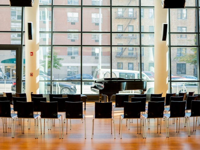 Harlem School of The Arts Herb Alpert Center upgraded performance venue designed by WSDG and featured at the New York Times. Dorothy Maynor Hall.
