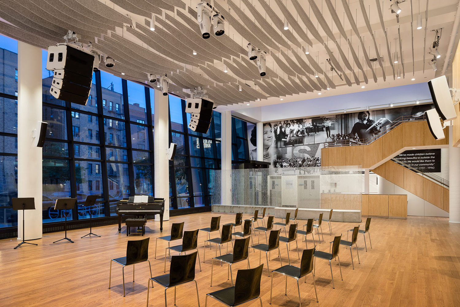 The renovated Harlem School of the Arts. WSDG was in charge of the acoustics and systems integration.