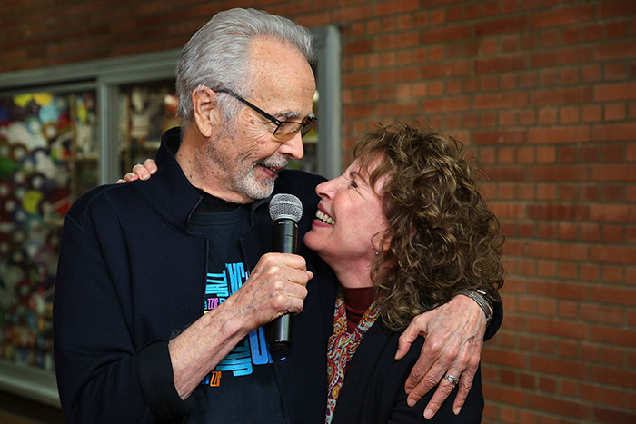 Herb Alpert and Lani Hall at the opening of the UCLA Herb Alpert School of Music new hall, re-designed by John Storyk and WSDG. Music hall in LA.