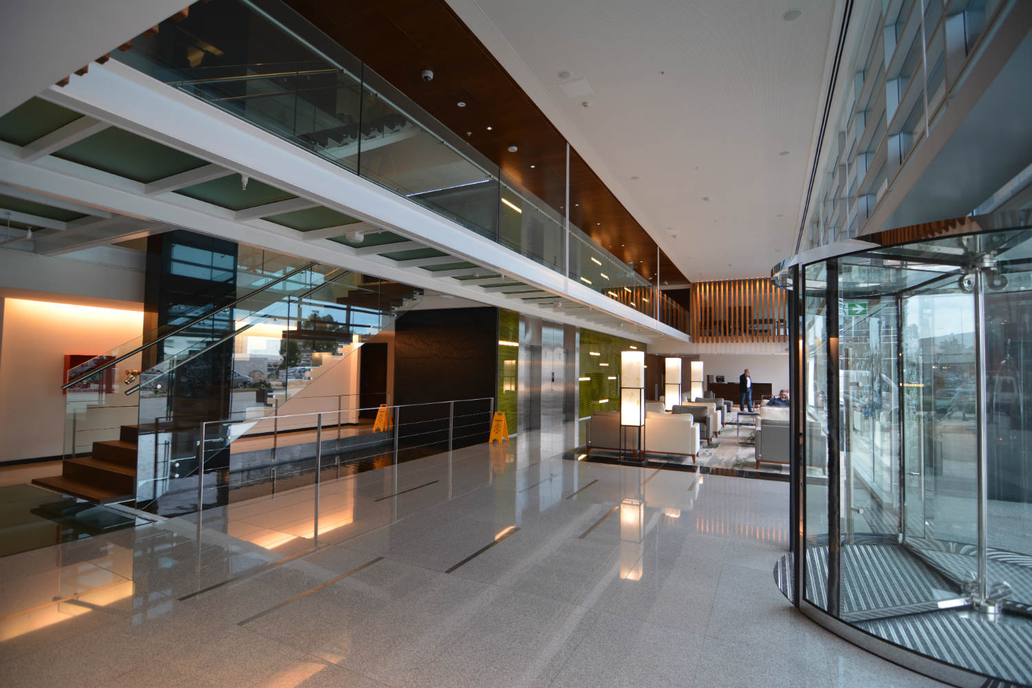 Hilton Garden Inn in Montevideo, Uruguay. Invisible acoustics designed and install by WSDG - WSDG Latin, Sergio Molho and Silvia Molho. Lobby 2