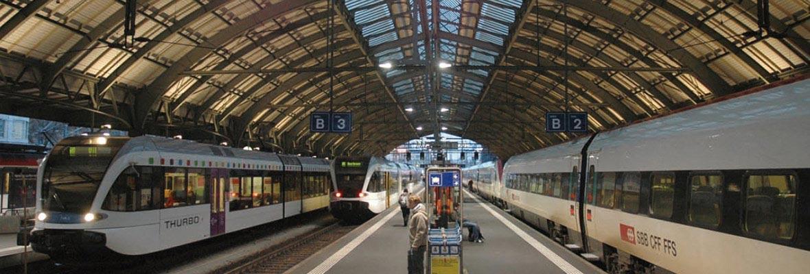 Train Station St. Gallen in Switzerland