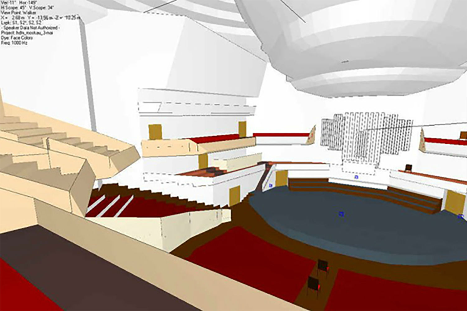 Moscow International House of Music in Moscow, Russia. ADA-AMC, a WSDG Company, was called for consulting and simulations on the room acoustics. 3D modeling.