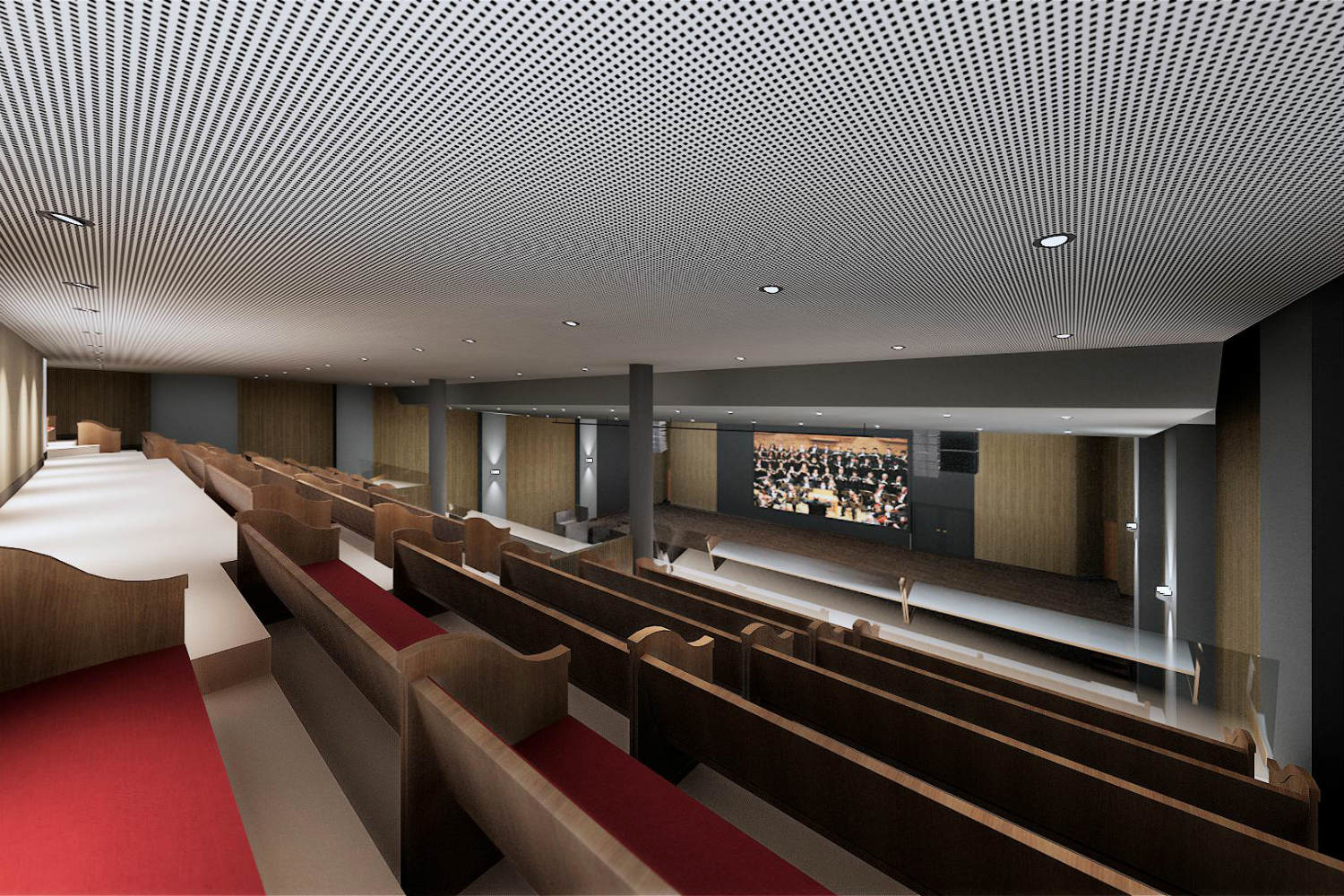 IBP has created a contemporary house of worship in São José. By engaging WSDG at the design stage, the Church planners were assured of providing their parishioners with superb acoustics for their worship services. Render 3