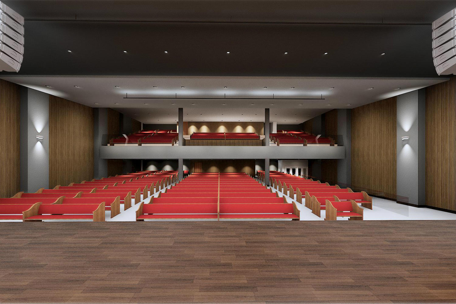 IBP has created a contemporary house of worship in São José. By engaging WSDG at the design stage, the Church planners were assured of providing their parishioners with superb acoustics for their worship services. Render 5