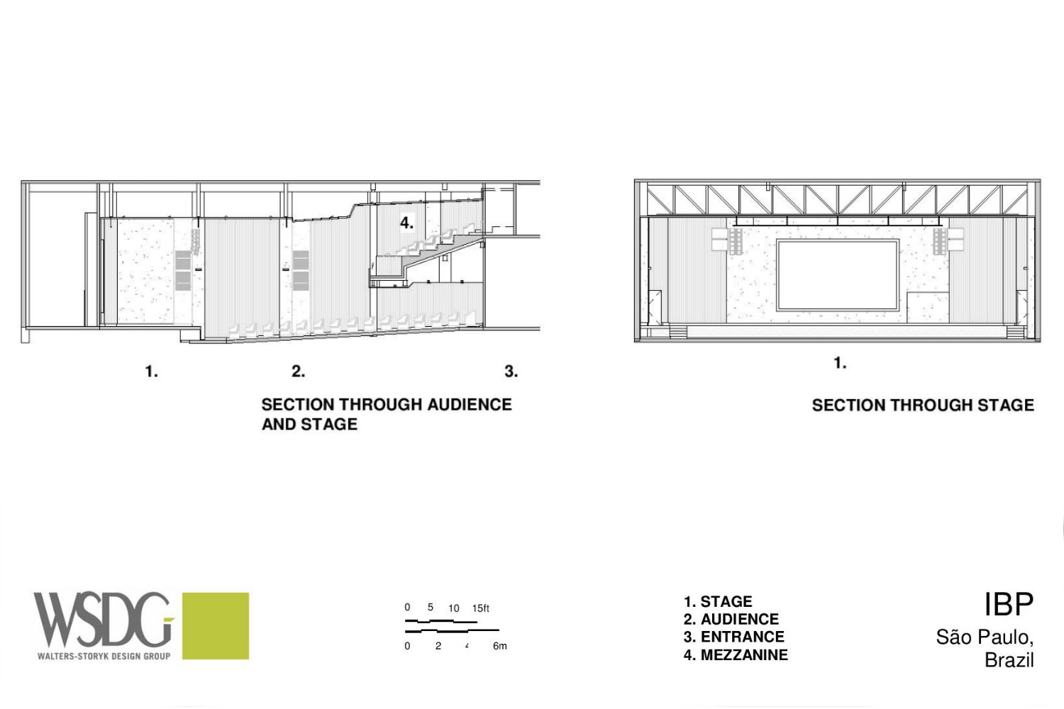 IBP has created a contemporary house of worship in São José. By engaging WSDG at the design stage, the Church planners were assured of providing their parishioners with superb acoustics for their worship services. Presentation Drawing 2