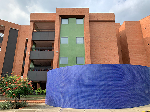 ICESI University in Cali Colombia. Building M (music and recording facility) building façade.