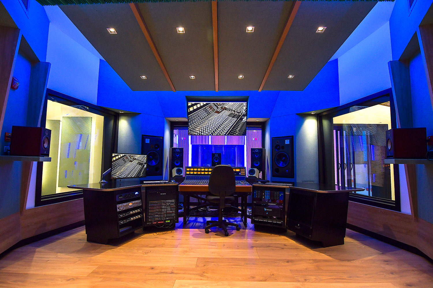 Universidad ICESI new world-class recording studio facility designed by WSDG. Control Room A.