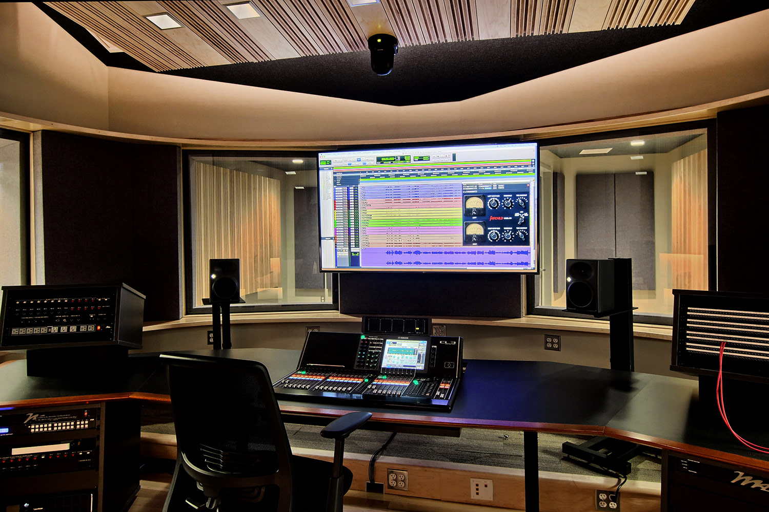 Interlochen has recently completed their new complex. A key component of the new complex is a state-of-the-art recording/teaching studio complex developed by WSDG. Lower Level Studio.