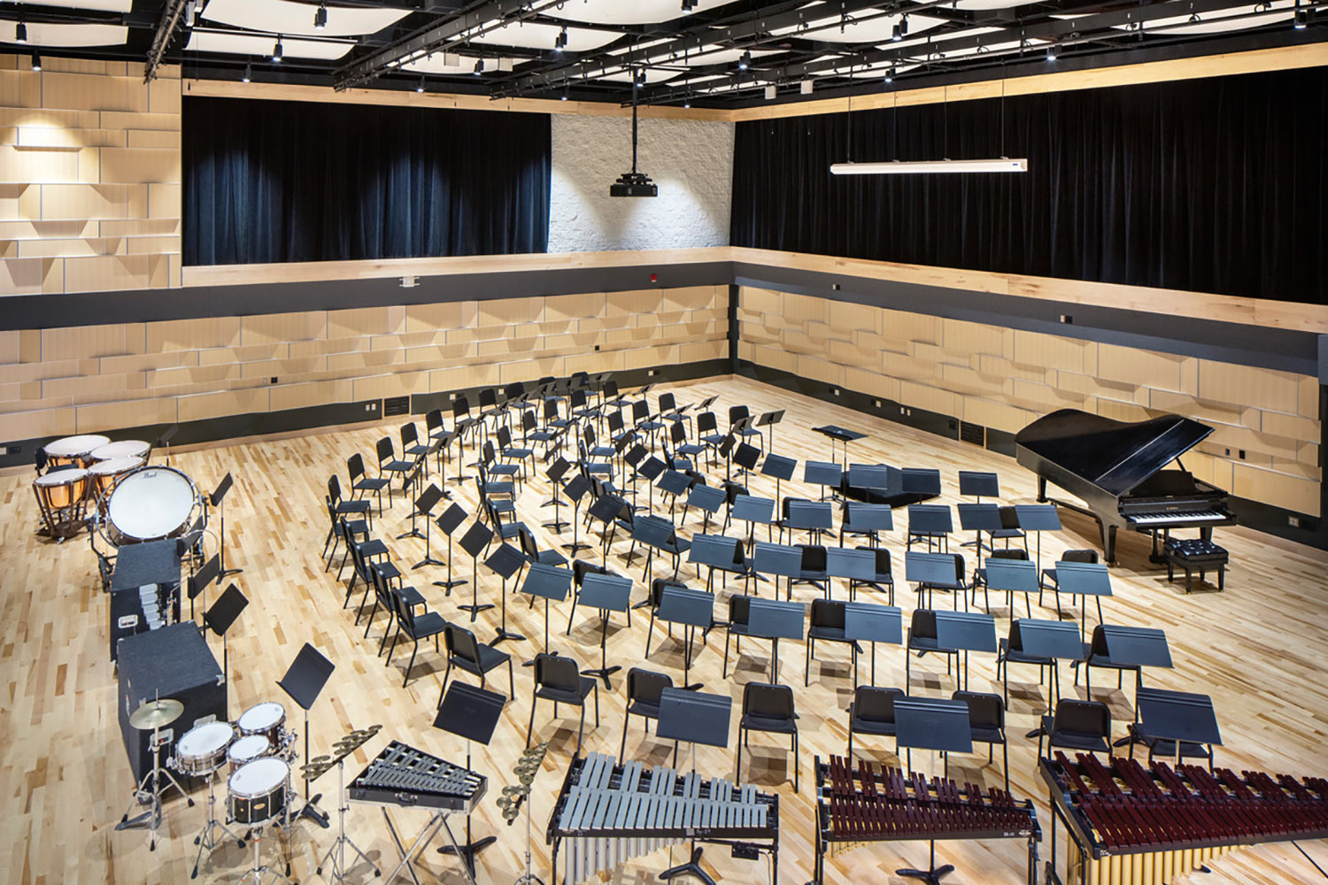 Interlochen has recently completed their new complex. A key component of the new complex is a state-of-the-art recording/teaching studio complex developed by WSDG. Ensemble Room.