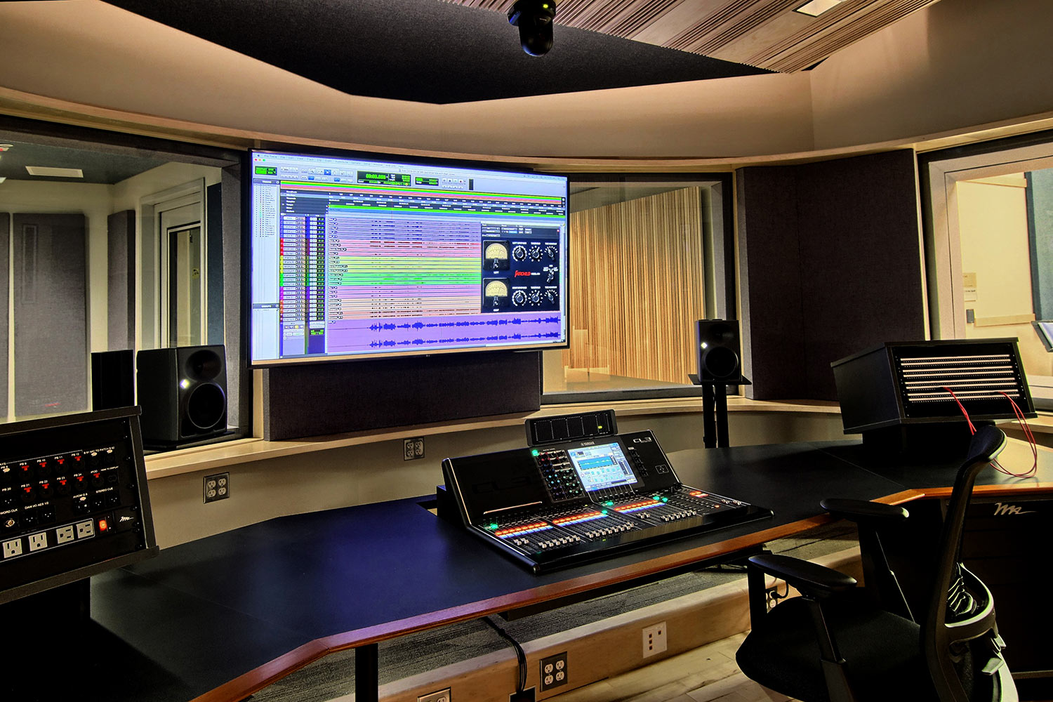 Interlochen has recently completed their new complex. A key component of the new complex is a state-of-the-art recording/teaching studio complex developed by WSDG. Floor Level Studio 2.