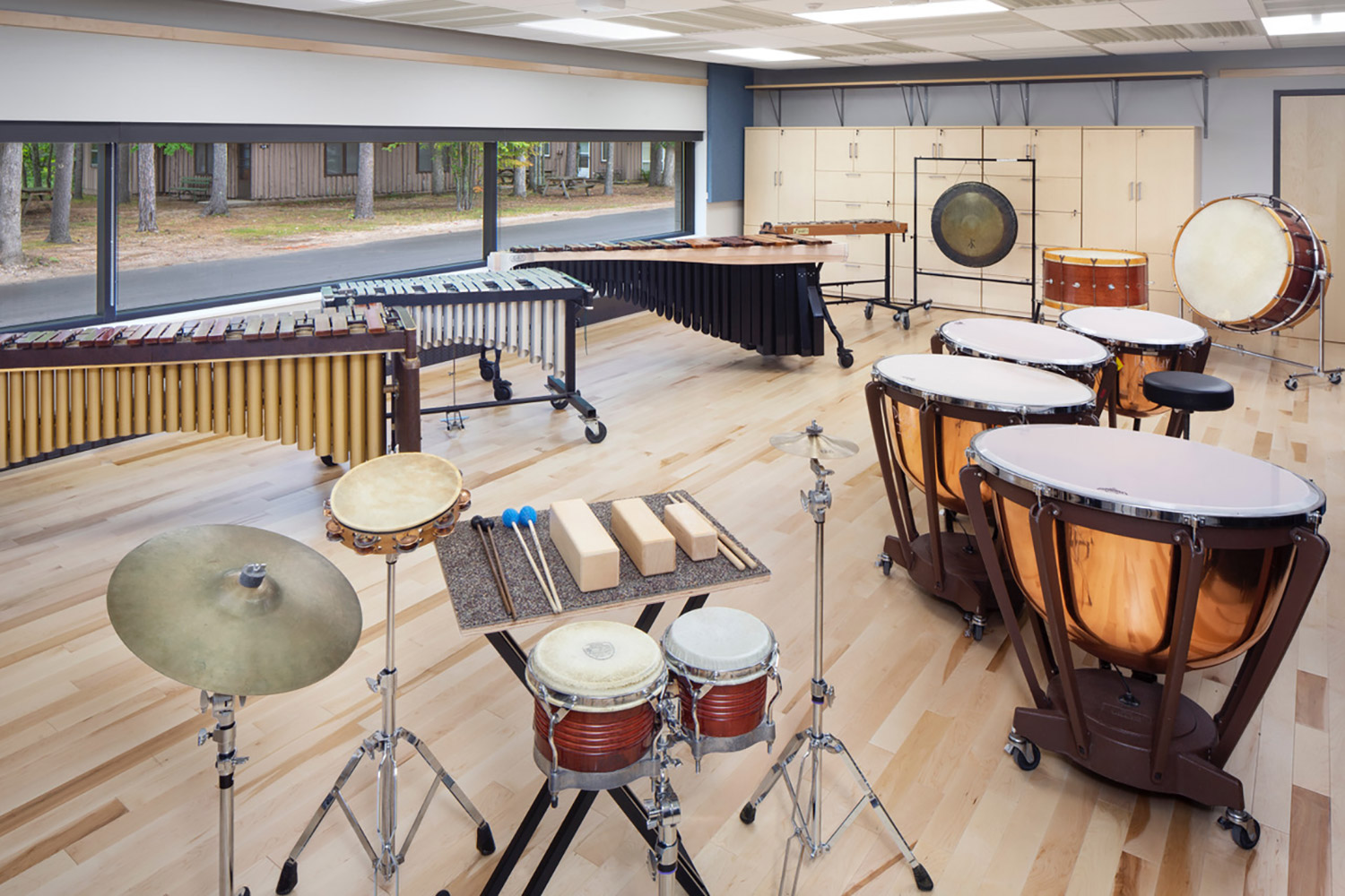Interlochen has recently completed their new complex. A key component of the new complex is a state-of-the-art recording/teaching studio complex developed by WSDG. Percussion Room.