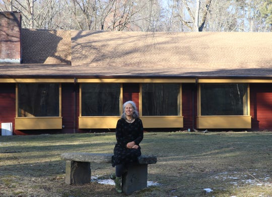 Woodstock's Bearsville Theater complex poised for rebirth as new owner Lizzie Van takes on challenges, and engages John Storyk (WSDG), a Poughkeepsie-resident world-class acoustician and engineer to deal with the acoustics and design. Lizzie Van outside.
