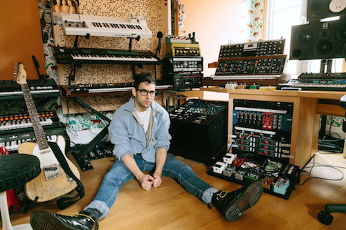 "The producer and songwriter Jack Antonoff at his home studio in Brooklyn. The album ""Gone Now"" from his band, Bleachers, is out in June. Credit Tawni Bannister for The New York Times. WSDG"