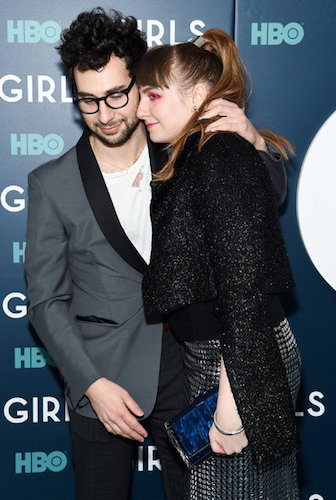 Jack Antonoff with his girlfriend, the writer, director and actress Lena Dunham. Credit Jamie McCarthy/Getty Images