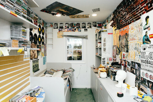 Jack Antonoff's teenage bedroom was replicated in a trailer to take on tour. Credit Tawni Bannister for The New York Times