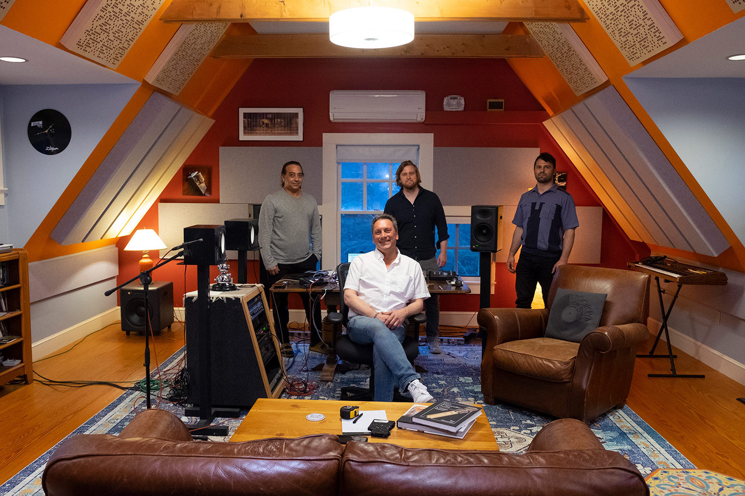 Rob Jaczko Abbott Road Studio, an all-in-one room with perfect internal room acoustics designed by WSDG and engaging the NIRO software. Rob and the WSDG team.