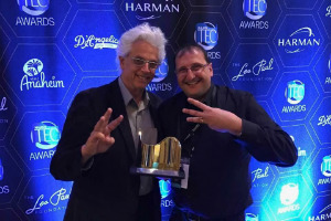 John Storyk & Sergio Molho receive 32nd annual TEC Award in the 2017 NAMM Convention in California