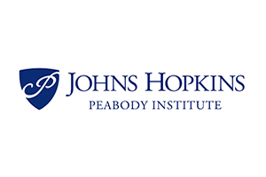 Johns Hopkins Peabody Institute Official Logo 2019. John Storyk to address a lecture on architecture and acoustics in April 2019.