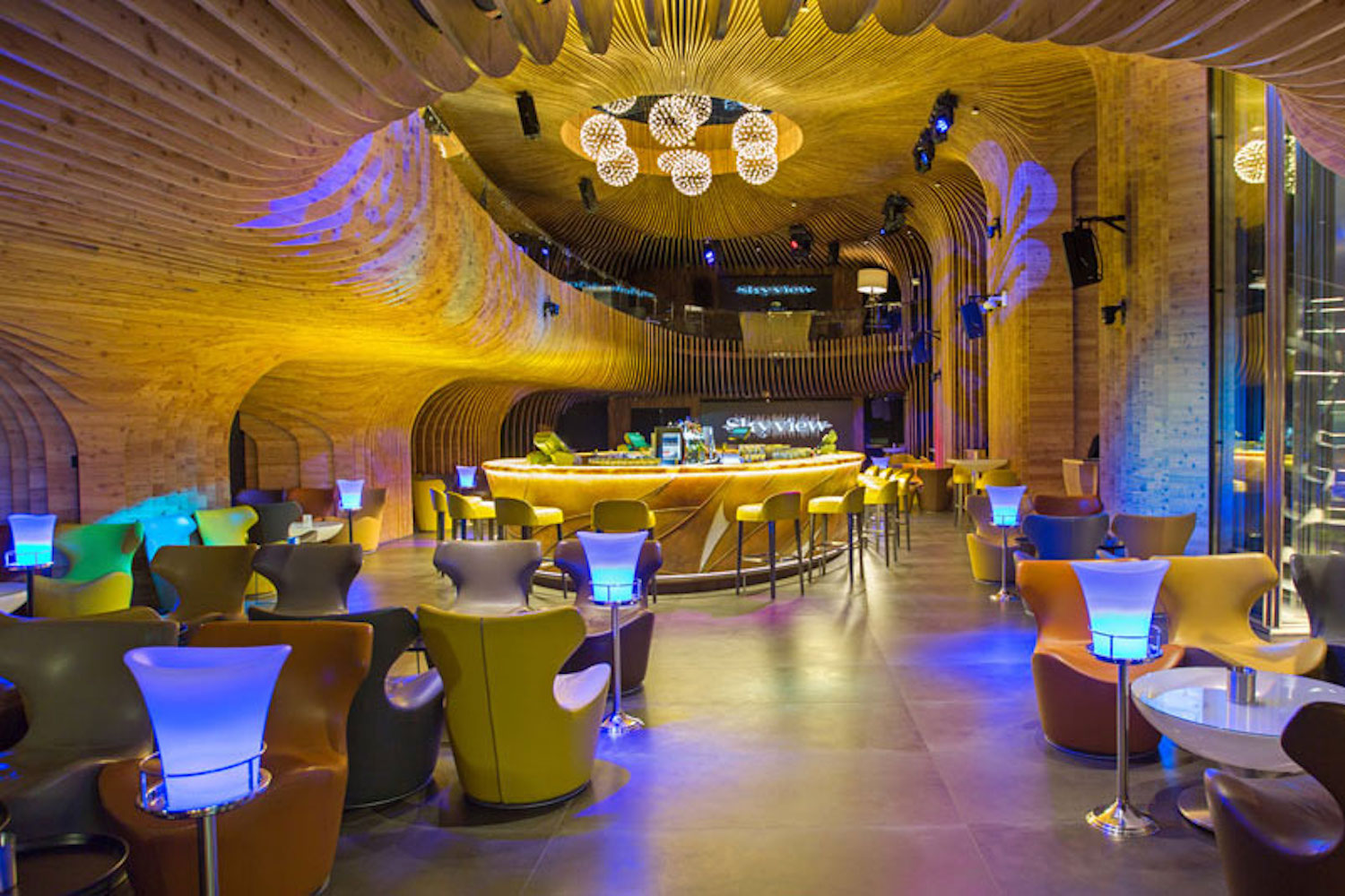 La Cigale, Doha's newest luxury hotel. WSDG performed a full acoustic makeover. Rooftop Bar 2