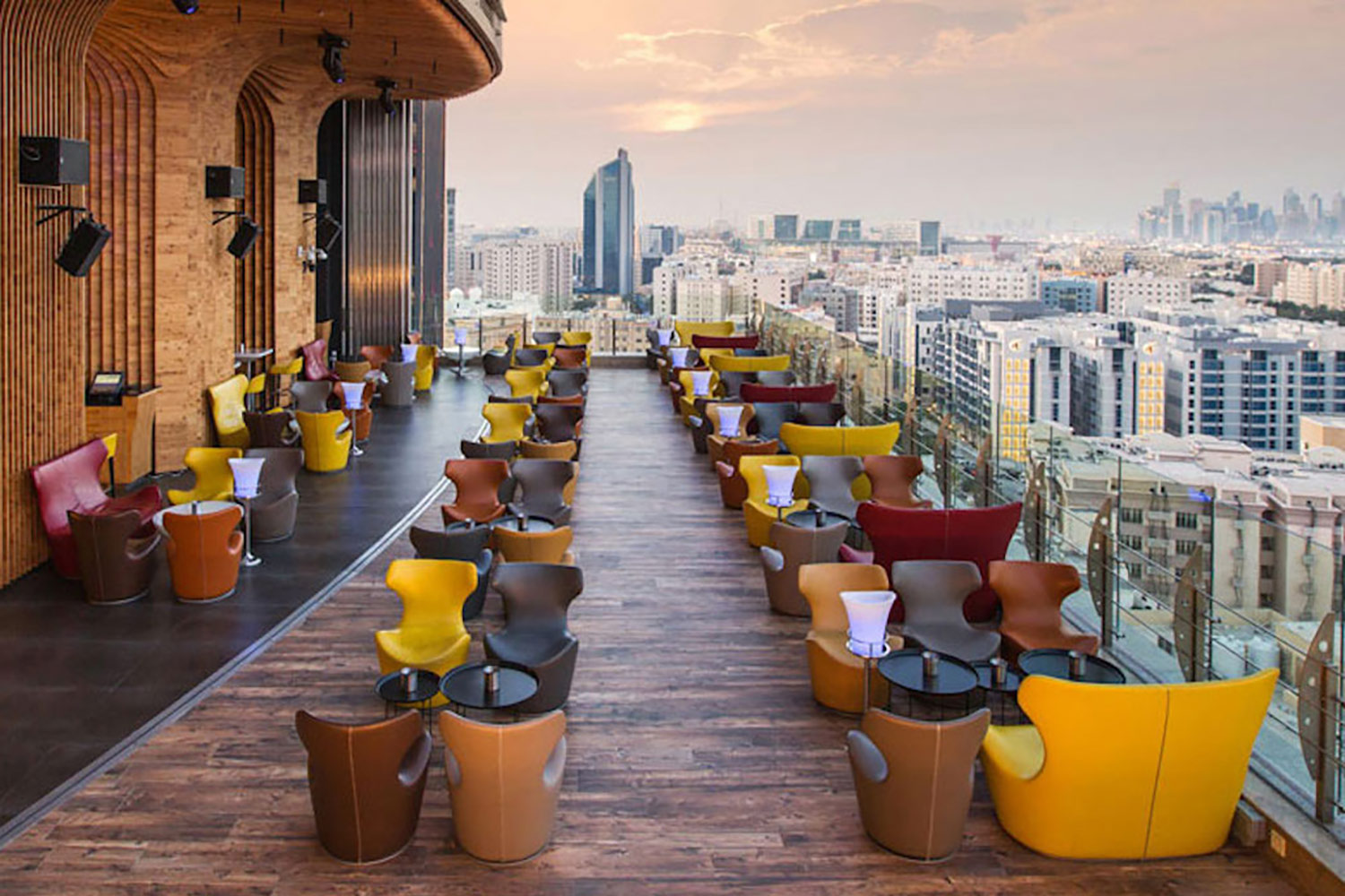 La Cigale, Doha's newest luxury hotel. WSDG performed a full acoustic makeover. Rooftop Bar 3