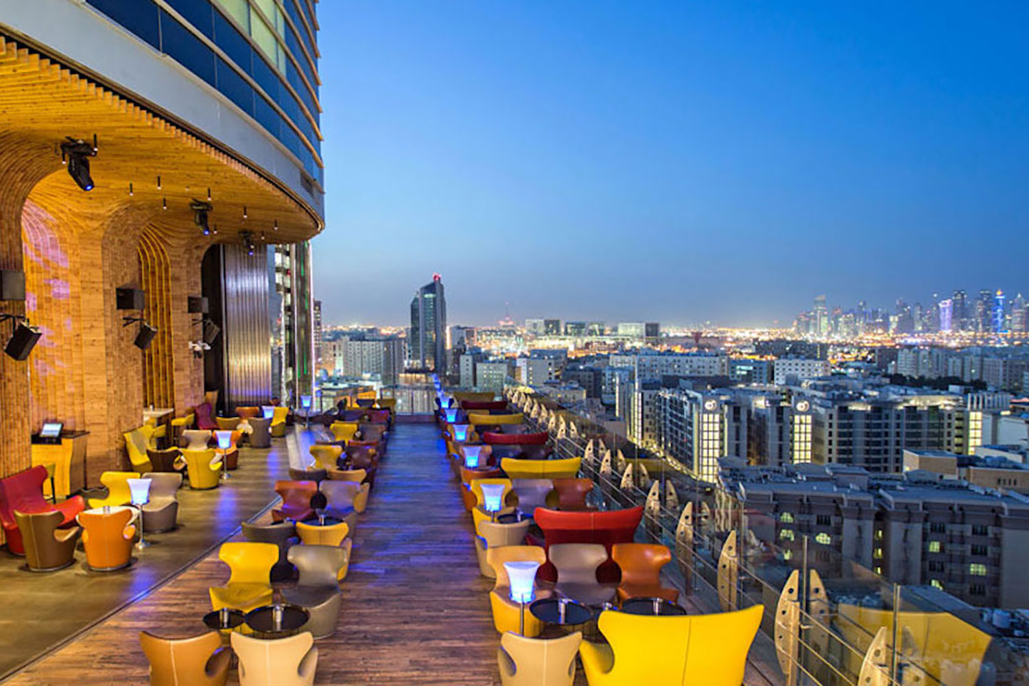 La Cigale, Doha's newest luxury hotel. WSDG performed a full acoustic makeover. Rooftop Bar 5