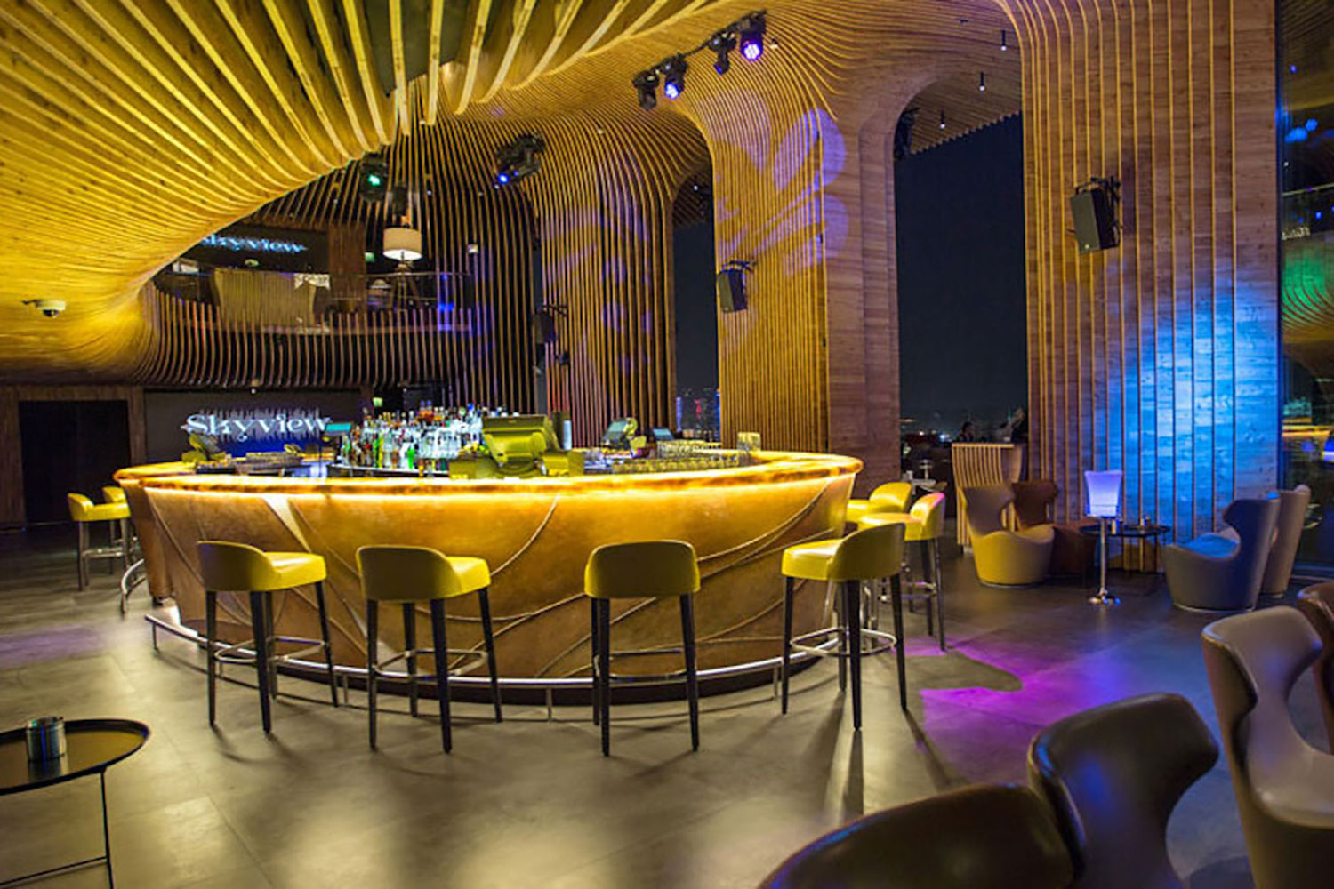 La Cigale, Doha's newest luxury hotel. WSDG performed a full acoustic makeover. Rooftop Bar 6
