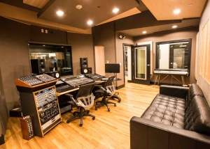 Lakehouse recording studios in asbury park, ny. Room designed by WSDG. Control Room.