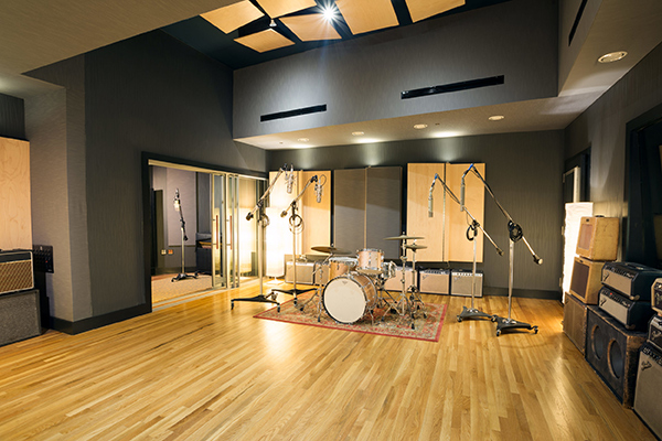 Producer/ songwriter Jon Leidersdorff commissioned WSDG to design his new Asbury Park based Recording Studios called Lakehouse Recording Studios. John Storyk is the best studio designer. Commercial recording studio. Great sounding rooms. Live Room A with drums micing.