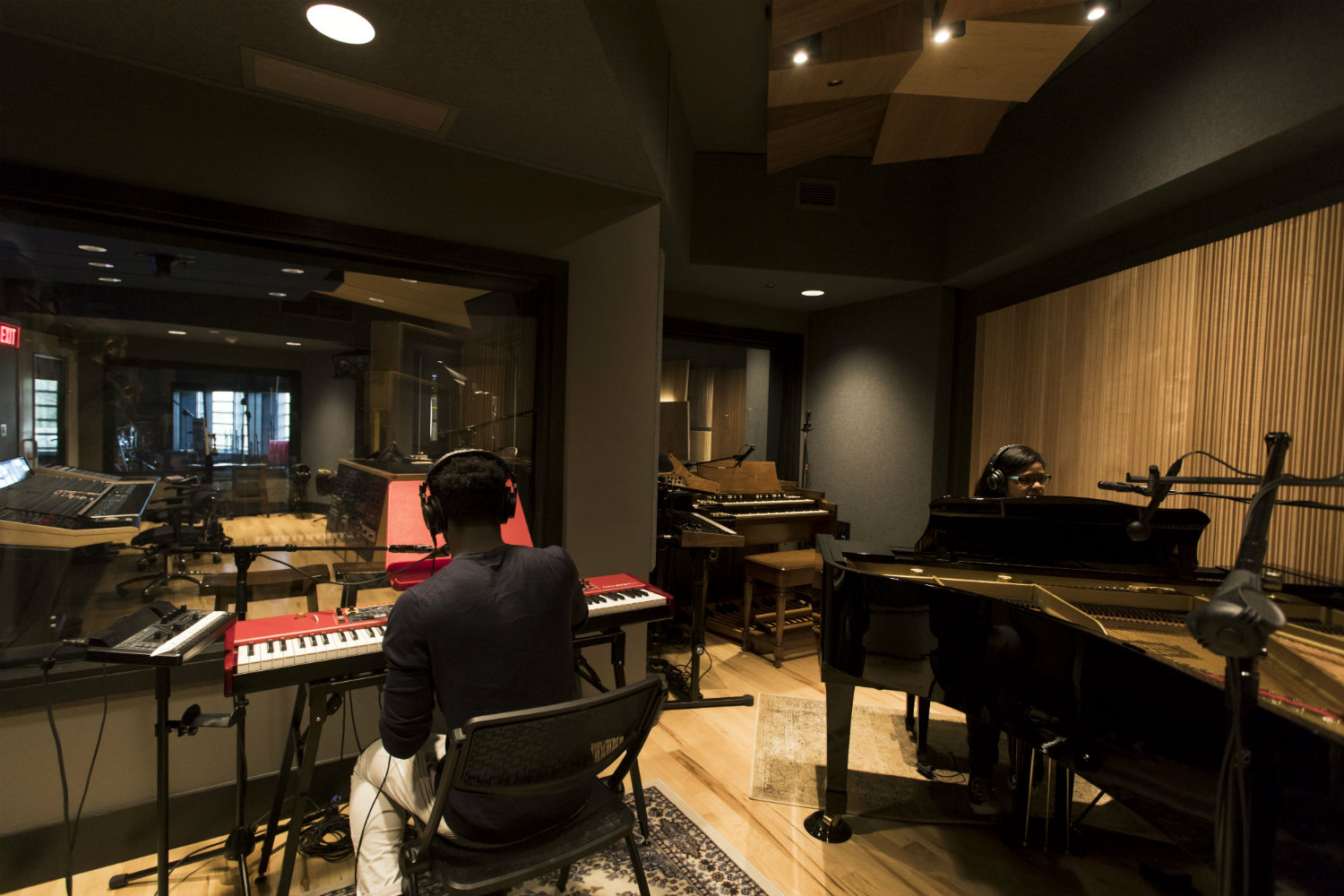 WSDG has designed a state-of-the art recording /teaching studio for the expanding campus of Liberty University, America's largest private, non-profit Christian university. Live Room Students recording