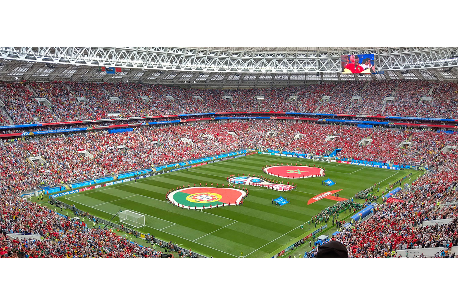FIFA Russia 2018 Lushniki Stadium in Moscow. ADA-AMC and WSDG developed computer models and simulation in order to achieve a great sound distribution throughout the stadium. FIFA World Cup match.