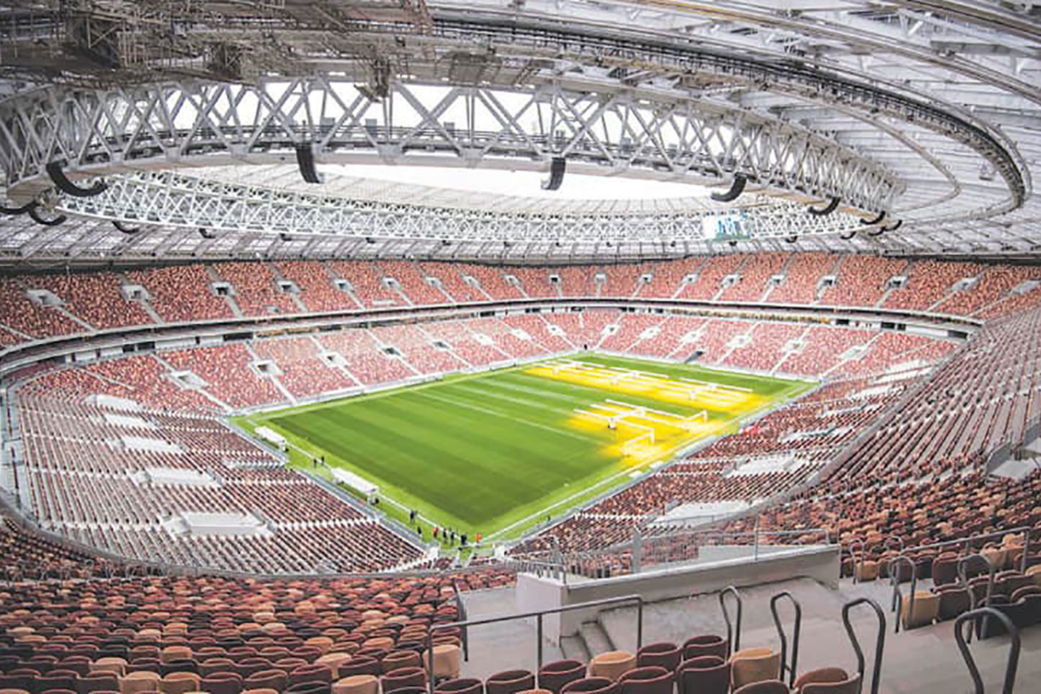 FIFA Russia 2018 Lushniki Stadium in Moscow. ADA-AMC and WSDG developed computer models and simulation in order to achieve a great sound distribution throughout the stadium. Stadium sound system.