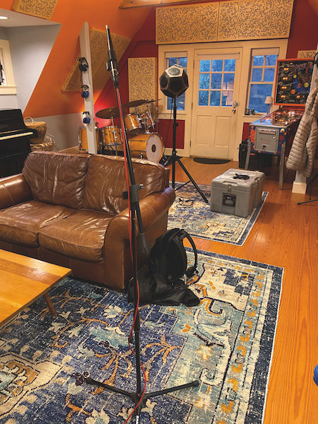 Jaczko Studio. On site acoustic measurements performed by WSDG's Andy Swerdlow.