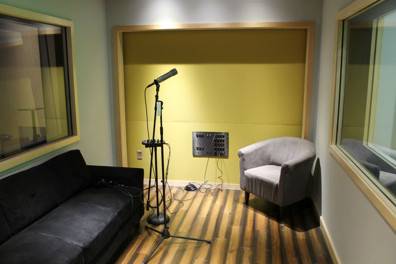 MJH Studios in NJ, designed by WSDG, is a world-class recording and production facility for the main use of creating audio and video healthcare-related content by MJH for their clients. ISO Booth