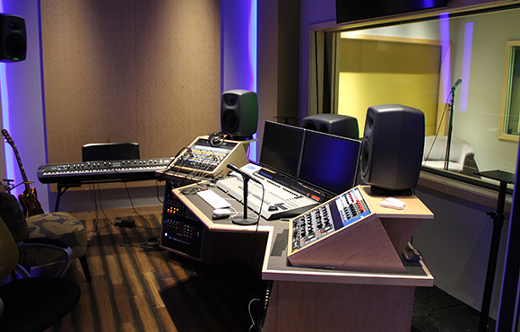 MJH Studios in NJ, designed by WSDG, is a world-class recording and production facility for the main use of creating audio and video healthcare-related content by MJH for their clients. Main Control Room - Post Magazine November Issue