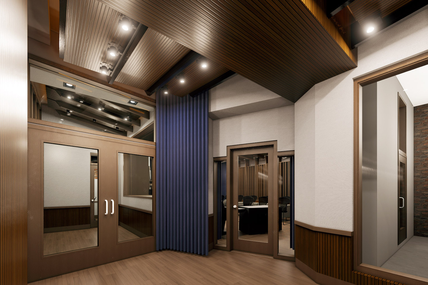 Mix with the Masters hired WSDG for the acoustic design and systems integration of their new recording studio complex in Paris, France. Drum Booth.